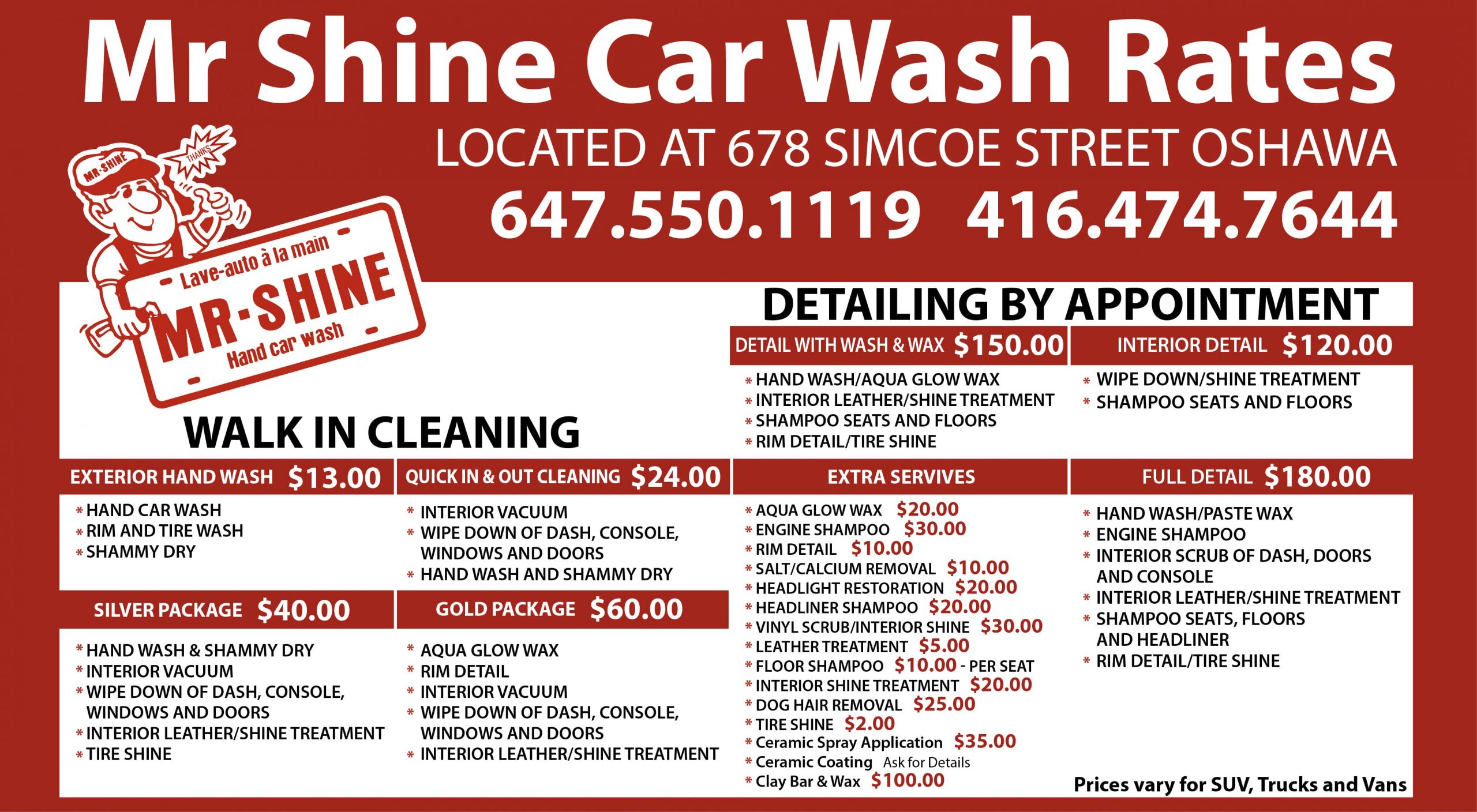 new car cleaning prices